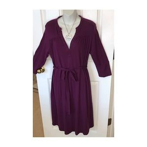 Old Navy Long Sleeve Purple Maternity Dress in Med